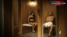 8. Natalie Martinez Removes Bra in Sauna – Kingdom