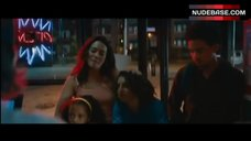 7. Natalie Martinez Pokies Through Dress – The Land