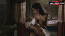 1. Indira Varma Breast Feeding – Rome