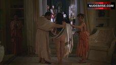 9. Polly Walker Full Nude in Pool – Rome