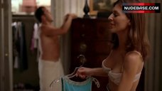 2. Perrey Reeves in Sexy White Lingerie – Entourage