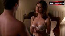 7. Perrey Reeves in Sexy White Lingerie – Entourage