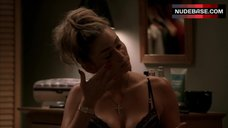 7. Drea De Matteo in Sexy Black Bra and Panties – The Sopranos