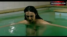 6. Elsa Zylberstin Naked in Pool – La Petite Jerusalem