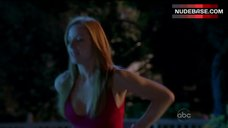 1. Jaime Ray Newman in Sexy Pink Lingerie – Eastwick