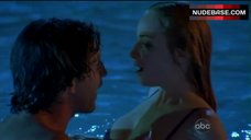 10. Jaime Ray Newman in Sexy Pink Lingerie – Eastwick