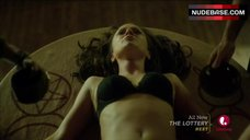 Rachel Boston Lying on Table in Lingerie – Witches Of East End