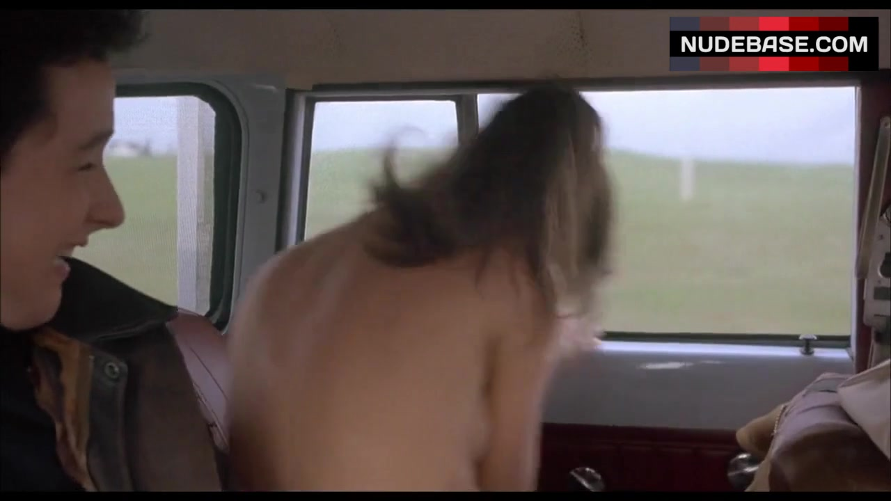 daphne zuniga shows boobs in car the sure thing